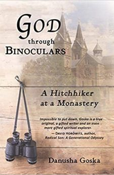 Book cover for God Through Binoculars: A Hitchhiker at a Monastery