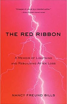 Book cover for The Red Ribbon: A Memoir of Lightning and Rebuilding After Loss