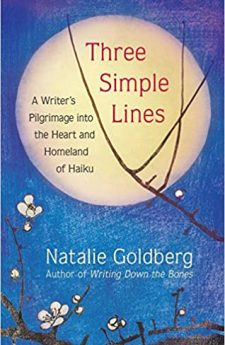 Book cover for Three Simple Lines: A Writer's Pilgrimage into the Heart and Homeland of Haiku